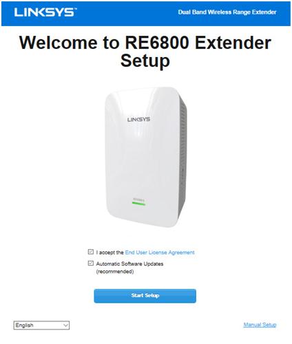 Linksys RE6800 WIFI Extender AC1750