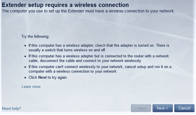Can't access Linksys Extender